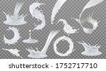 set of realistic milk splashes...   Shutterstock .eps vector #1752717710