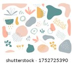 organic shapes set on white... | Shutterstock .eps vector #1752725390