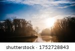 Dramatic and picturesque scene.sunset on the lake. Popular tourist attraction.Artistic picture. Beauty world.Mountain lake water landscape. Mountain lake water. Lake in mountains - stock photo