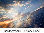 background of photovoltaic... | Shutterstock . vector #175274429