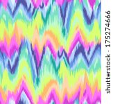 cute rainbow ikat chevron print ... | Shutterstock .eps vector #175274666
