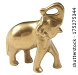 Brass Elephant With White...