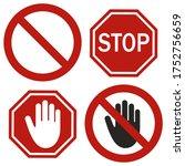 prohibition signs vna white... | Shutterstock .eps vector #1752756659
