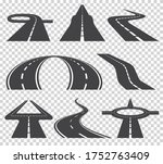 winding curved road or highway...   Shutterstock . vector #1752763409
