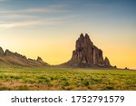 Shiprock  New Mexico  Usa At...