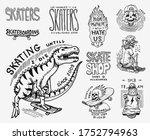 skateboard shop badges set.... | Shutterstock .eps vector #1752794963