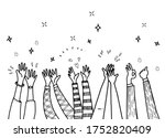 applause hand draw hand drawn... | Shutterstock .eps vector #1752820409
