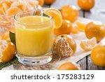 portion of fresh made tangerine ...   Shutterstock . vector #175283129