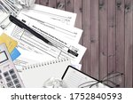 Small photo of IRS form 990 Return of organization exempt from income tax lies on flat lay office table and ready to fill. U.S. Internal revenue services paperwork concept. Time to pay taxes in United States