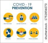 prevention of covid 19... | Shutterstock .eps vector #1752856073
