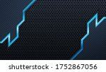 futuristic perforated...   Shutterstock .eps vector #1752867056