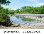 Mountain River Scenery With...