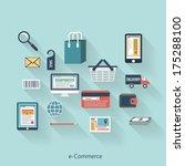 e commerce modern concept in... | Shutterstock .eps vector #175288100