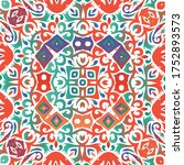 Ethnic Ceramic Tile In Mexican...
