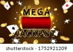 online casino. mega jackpot... | Shutterstock .eps vector #1752921209