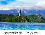 view of bled island and a... | Shutterstock . vector #175292918
