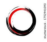 painting enso zen symbol....   Shutterstock .eps vector #1752941093