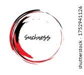 painting enso zen symbol....   Shutterstock .eps vector #1752941126