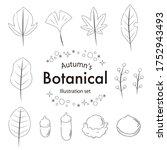 fashionable illustration set of ...   Shutterstock .eps vector #1752943493