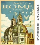 Travel To Rome Poster   Vintag...