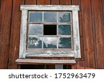 Old Barn With Broken Window In...