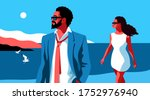summer holidays concept. young...   Shutterstock .eps vector #1752976940