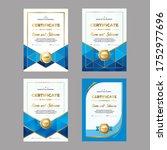 design of award certificate ...   Shutterstock .eps vector #1752977696