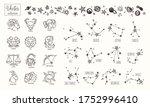 zodiac signs. vector hand drawn....   Shutterstock .eps vector #1752996410