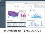 data dashboard states... | Shutterstock .eps vector #1753007726