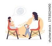 child psychiatrist work with... | Shutterstock .eps vector #1753024400