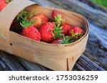 Fresh Strawberries In The...