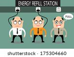 battery,business,businessman,cartoon,charge,color,concept,conceptual,design,electric,electricity,energy,full,green,happy