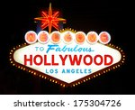 welcome to hollywood sign | Shutterstock . vector #175304726