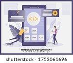 illustration vector of mobile...