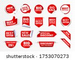 high quality sale tags vector... | Shutterstock .eps vector #1753070273
