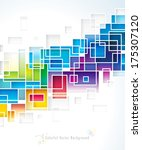 colored squares design abstract ... | Shutterstock .eps vector #175307120