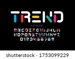modern font design  trendy... | Shutterstock .eps vector #1753099229
