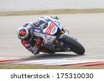 Постер, плакат: Spanish MotoGP rider of