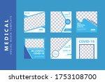 covid  19 social media post...   Shutterstock .eps vector #1753108700