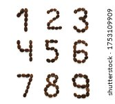 Numbers Made Up Of Coffee Bean...