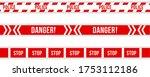 police warning tape  caution.... | Shutterstock .eps vector #1753112186