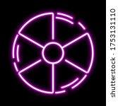 radiation pink glowing neon ui...
