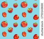 seamless food pattern  ripe...   Shutterstock . vector #1753143830