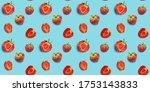 seamless food pattern  ripe...   Shutterstock . vector #1753143833