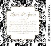wedding card | Shutterstock .eps vector #175314590
