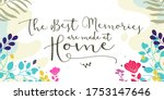 family home quotes the best... | Shutterstock .eps vector #1753147646