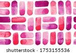 hot pink watercolor brush... | Shutterstock .eps vector #1753155536