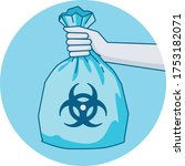 hand carrying hazardous waste...   Shutterstock .eps vector #1753182071