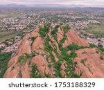 Drone Shot Aerial View Steep...