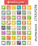 healthy   medical icons flat... | Shutterstock .eps vector #175319258
